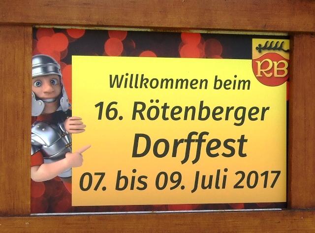 Einladung zum Rötenberger Dorffest