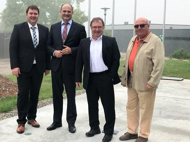 Bürgermeister Lehrer mit Landtagsabgeordnetem Stefan Teufel