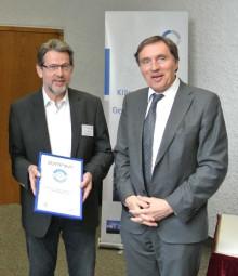 Gemeindekämmerer Thomas Kienzle mit dem Vorsitzenden des  DWA Landesverbandes Baden-Württemberg