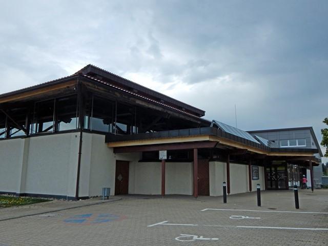 Eingangsbereich der Rötenberger Turn- und Festhalle