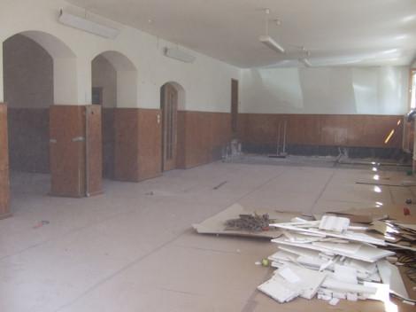 Bürgersaal nebst Sanitäranlagen und Nebenraum werden im Zuge der Baumaßnahmen ebenfalls erneuert
