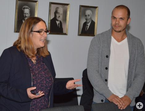Büro Faktor Grün, Leiterin Stefanie Moosmann und Kollege Martin Gass