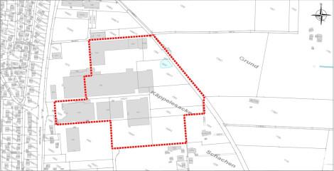 Bebauungsplan Käppelesacker I und II - Räumlicher Geltungsbereich