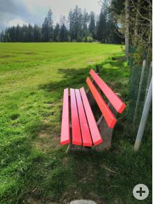 Neue Sitzbank Aichhalden